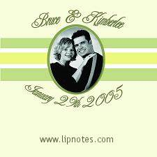 Wedding Lip Notes Customized Label